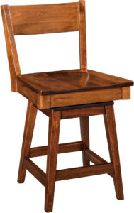 Monterey Hardwood Swivel Bar Stool