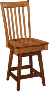 Newport Hardwood Swivel Bar Stool