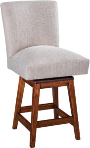 Trenton Hardwood Swivel Bar Stool