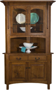 Breckenridge 2-Door Corner Hutch