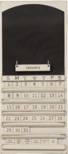 Chalkboard Perpetual Calendar