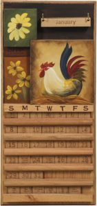 Rooster Perpetual Calendar
