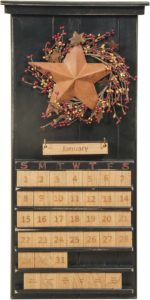 Star and Berries Black Perpetual Calendar