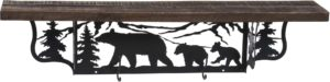 Rustic Bear Wall Shelf