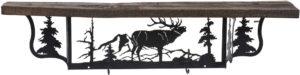 Rustic Elk Wall Shelf