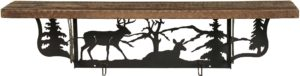 Rustic Whitetail Deer Wall Shelf