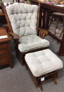 Giselle Glider Ottoman Set Ready for Pick Up