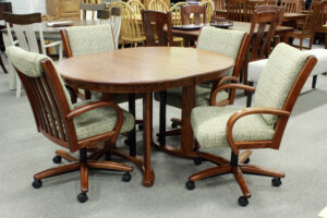 Oval Double Pedestal Table Set Ready for Pick Up
