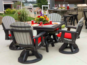 Square Patio Table Dining Set