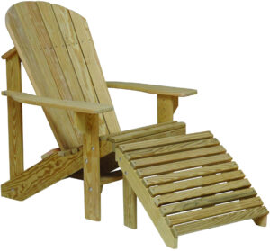 Treated Pine Adirondack Chair and Footrest
