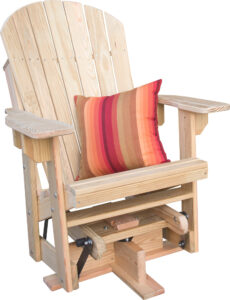 Treated Pine Adirondack Swivel Glider
