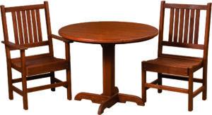 Cedar Round Table Patio Set