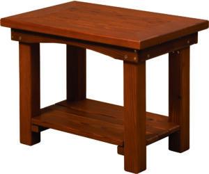 Large Cedar Side Table