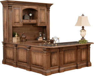 Montereau U Desk and Hutch