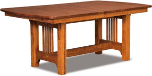 Craftsman Mission Trestle Dining Table