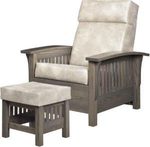 Barwick-Style Chair and Ottoman