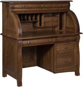 Castleberry Single Pedestal Rolltop Desk