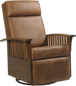 Mission-Style Swivel Glider Recliner
