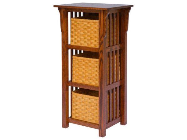 Amish Basket Upright Mission Style Shelf