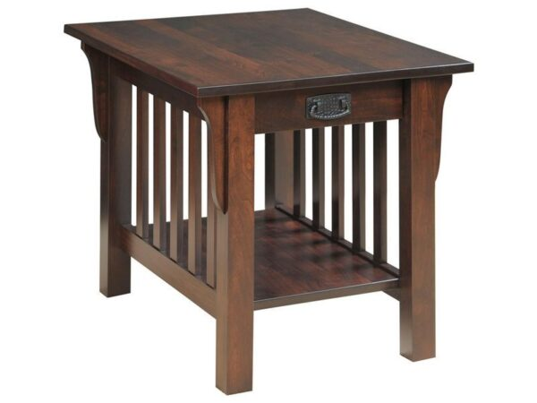 Amish Graham End Table with Drawer