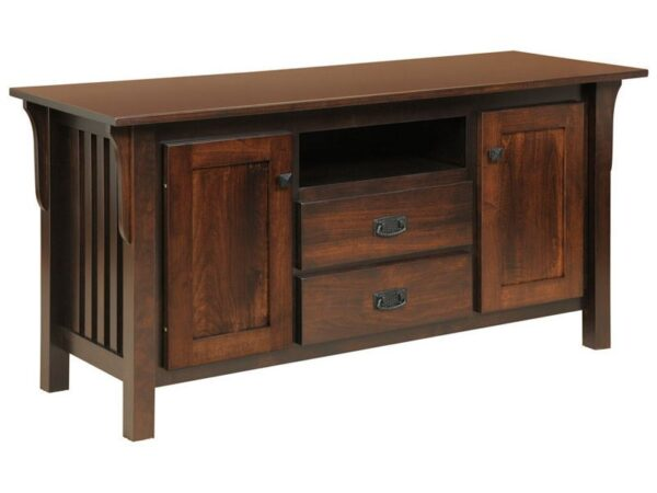 Amish Graham Deluxe TV Stand with 2 Drawers