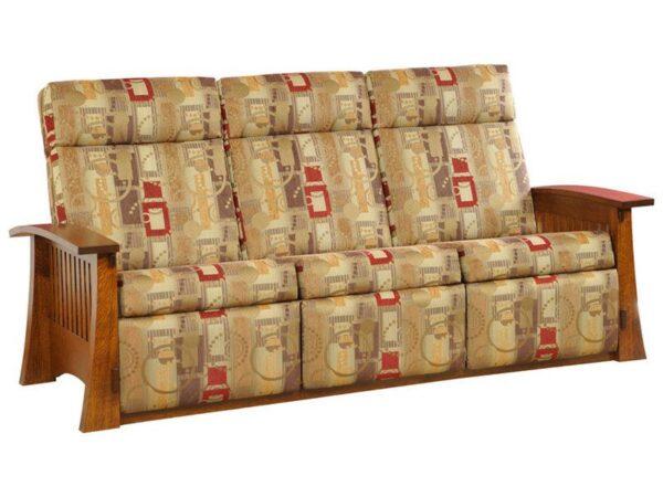 Amish Craftsman Mission Wall Hugger Sofa Recliner
