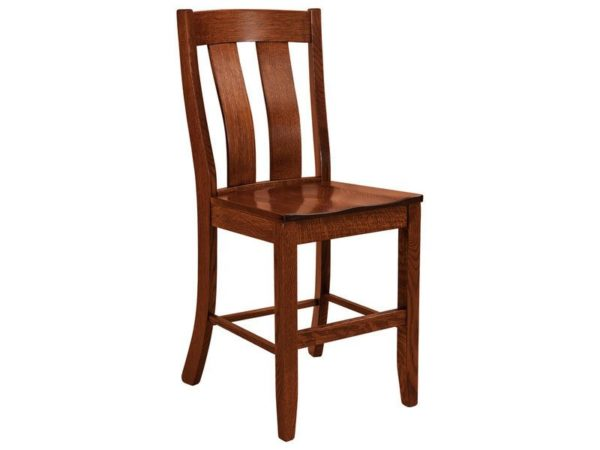 Amish Laurie Stationary Bar Stool