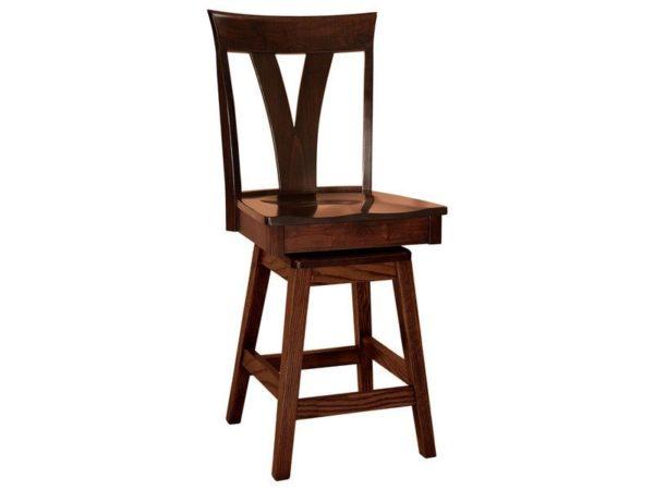 Amish Levine Hardwood Swivel Bar Stool