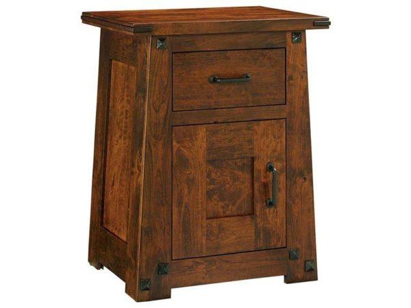 Amish Encada One Door Nightstand