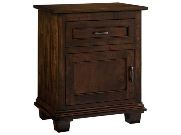 Amish Francine One Door Nightstand