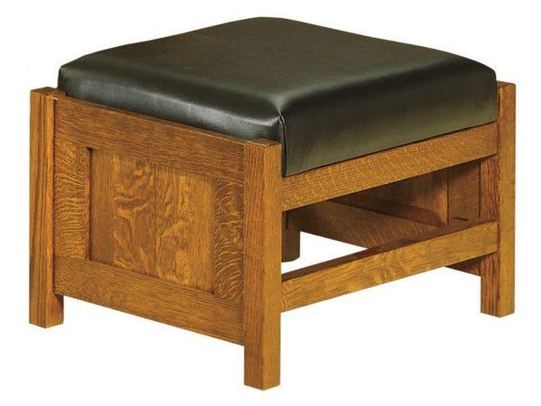 Amish Bow Arm Panel Morris Footstool