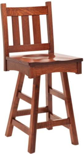 Astounding Vintage Mission Barstool Amish Barstool Solid Wood Barstool Ocoug Best Dining Table And Chair Ideas Images Ocougorg