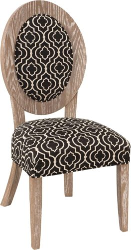 Amish Roanoke Side Chair in Licorice Dark Fabric