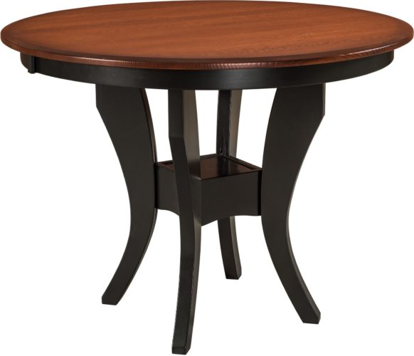 Amish Imperial Single Pedestal Pub Table
