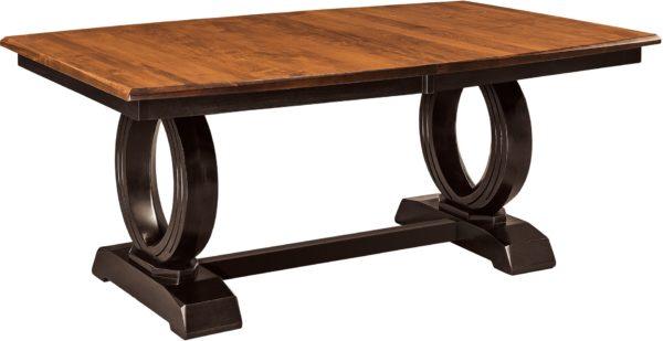 Amish Saratoga Trestle Dining Table