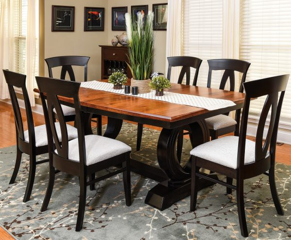 Amish Saratoga Trestle Dining Room Setting