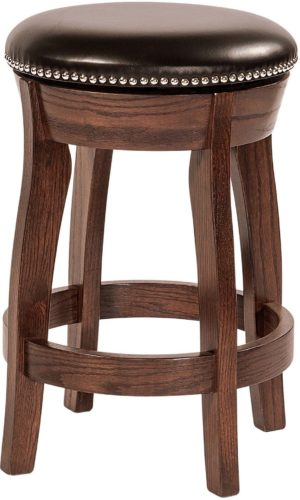 Amish Dillon Barstool with Leather Seat