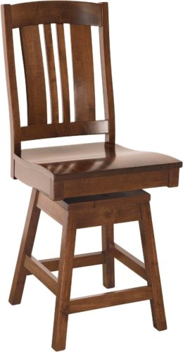 Amish Carolina Swivel Hardwood Barstool