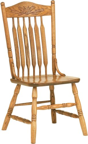 Amish Bent Paddle Post Side Chair
