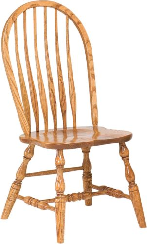 Amish Bent Feather Bow Side Chair