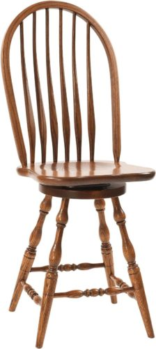 Amish Bent Feather Bow Barstool