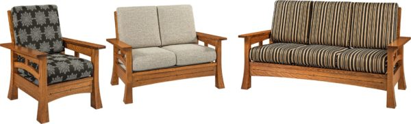 Amish Brady Three Piece Living Room Set