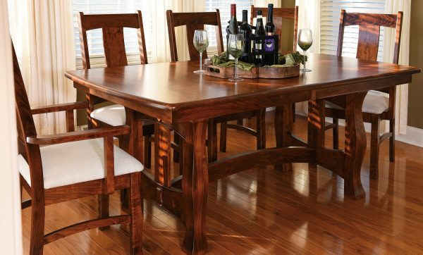 Room Setting with the Amish Reno Trestle Table