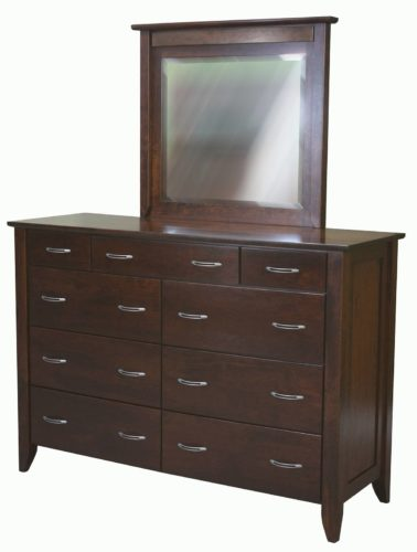 Amish Cherry Jaymont Mule Dresser with Mirror