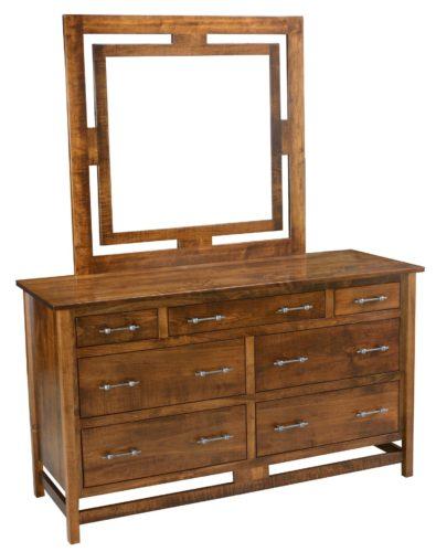 Amish Lakota 7 Drawer Dresser