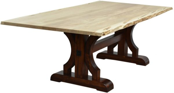 Amish Barstow Live Edge Dining Table