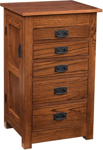 Amish 35 inch Mission Jewelry Armoire Oak