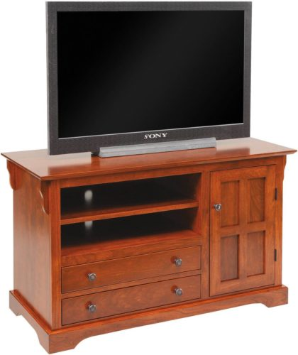 Amish 45 1/2 inch Mission Hills T.V. Stand Cherry