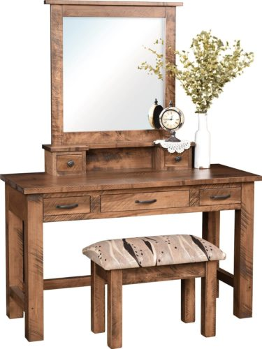 Amish Brentwood Dressing Table Brown Maple