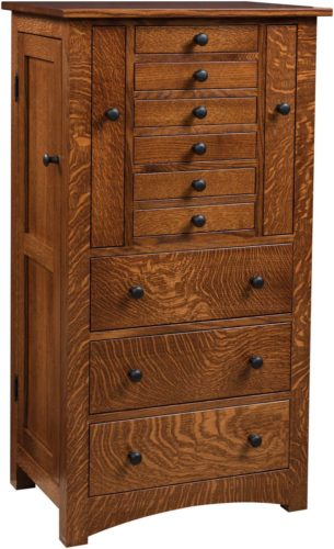 Amish Bungalow Mission Jewelry Armoire QSWO
